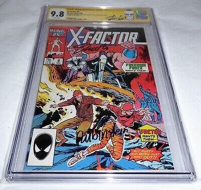 X-Factor #8 CGC SS 9.8 4x Signature Autograph STAN LEE Freedom Force Rusty Skids