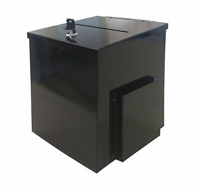 Box Metal Donation Suggestion Charity Fundraising 8.4x8.0x9.5