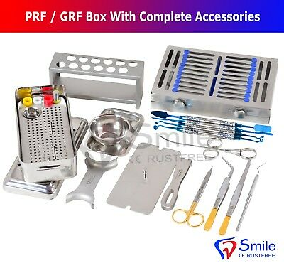 Complete Prfgrf Box Dental Implant Membrane Surgery Bone Graft Instruments Kit