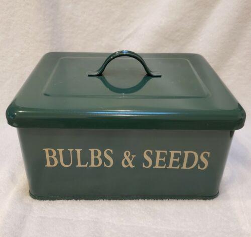 Restoration Hardware Bulbs & Seeds Canister - Metal Enamel