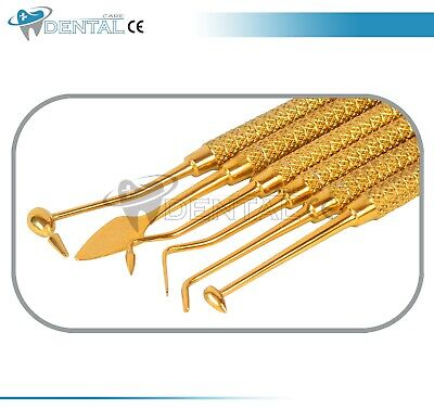 6 X Dental Composite Filling Instrument Set Titanium Coated Restorative Kit Ce