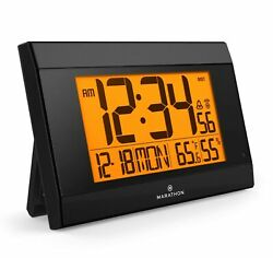 Marathon CL030052BK Atomic Wall Clock Black