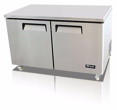 Migali C-u60r-hc Commercial Two Door Undercounter Refrigerator