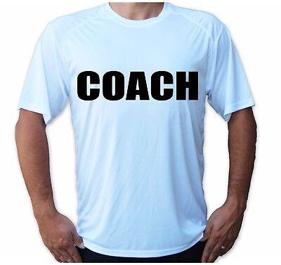 - Soccer Tennis Coach College Team Sport Tee Sleeve UPF 30 T-Shirt UV Protection