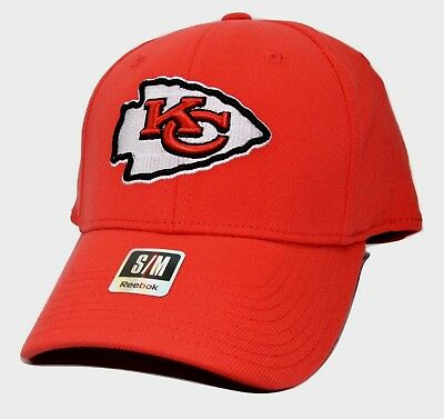 Kansas City Chiefs Reebok NFL Football Coaches Stretch Fit Cap Hat Small/Med