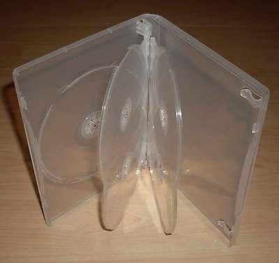3 DVD Hüllen Case Cases 5fach 5er transparent durchsichtig für 5 DVDs Neu
