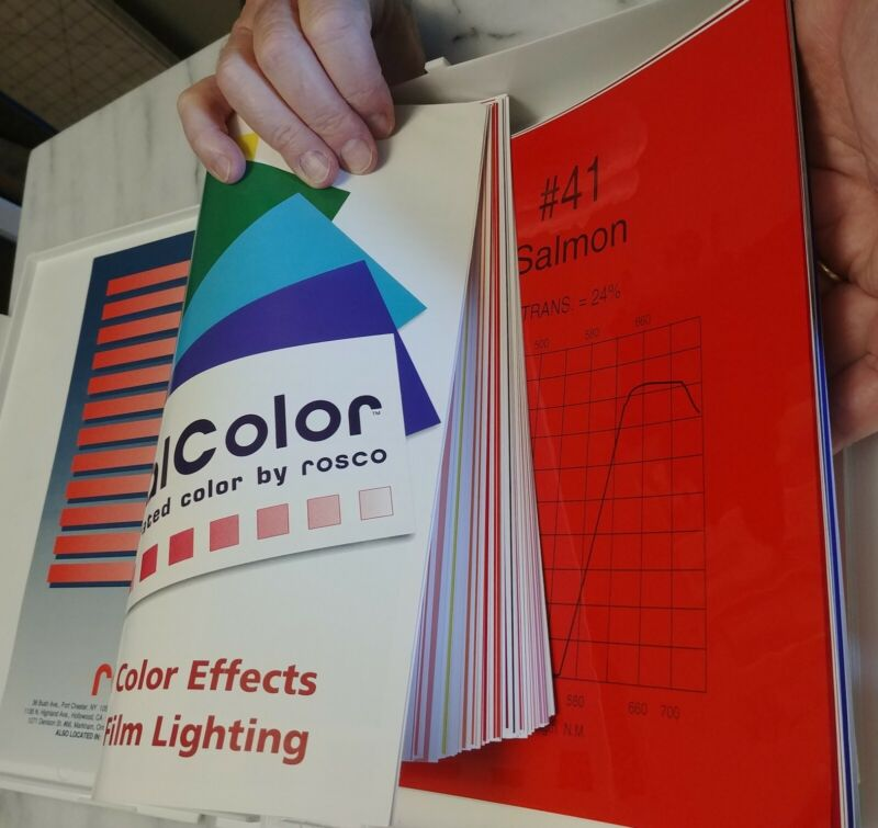 Special sale - Roscolux Pro Color Swatchbook Filter Gels Diffusion