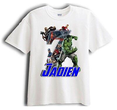 Avengers Hulk Personalized - Birthday T-Shirt Party Favor  Birthday Party Favor T-shirt