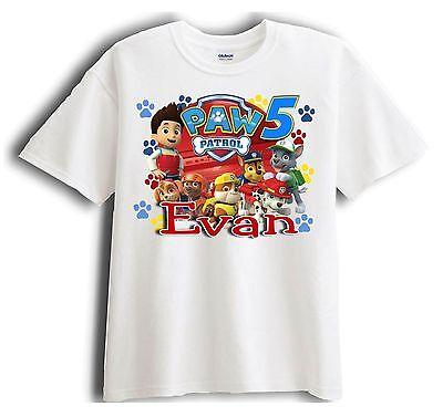 Paw Patrol Shirts (Paw Patrol Personalized - Birthday T-Shirt Party Favor)
