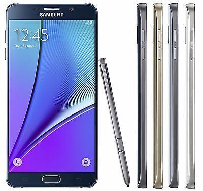 Unlocked Samsung Galaxy Note 5 SM-N920P N920 32/64GB GSM Smartphone Black/White