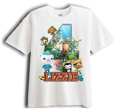 Octonauts Personalized - Birthday T-Shirt Party Favor  Birthday Party Favor T-shirt