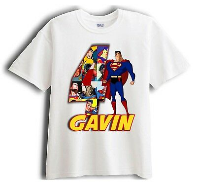 Superman Personalized - Birthday T-Shirt Party Favor  Birthday Party Favor T-shirt