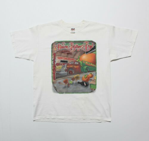 Vintage 2003 The Allman Brothers Band T-Shirt The Road Goes On Forever Tour L