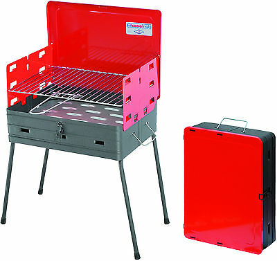 Barbecue a carbone carbonella a valigetta cm 41x30