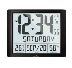 Marathon CL030061FD-BK Black Super Jumbo Atomic Digital Wall Clock