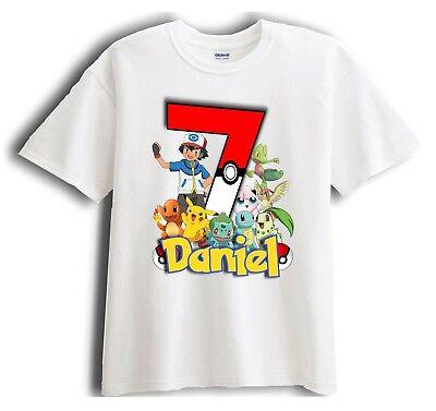 Pokemon Personalized - Birthday T-Shirt Party Favor  Birthday Party Favor T-shirt