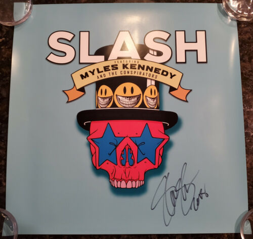 Slash Myles Kennedy and the Conspirators signed autographed poster Guns N
