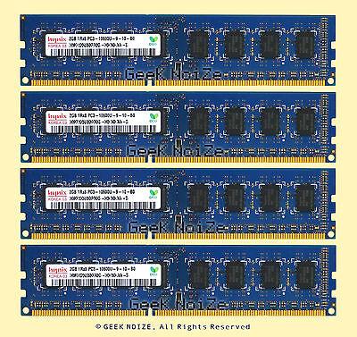 Hynix Desktop RAM 8GB 4x 2GB PC3-10600U DDR3 1333 Non-ECC 1Rx8 240pin Memory LOT