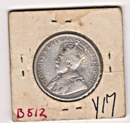 NEWFOUNDLAND 1917 HALF DOLLAR SILVER COIN