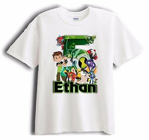 New Custom Ben 10 Personalized - Birthday T-Shirt Party Favor