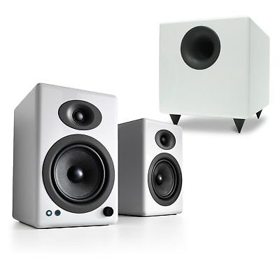 Audioengine A5+ Wireless White Speakers with S8 Subwoofer