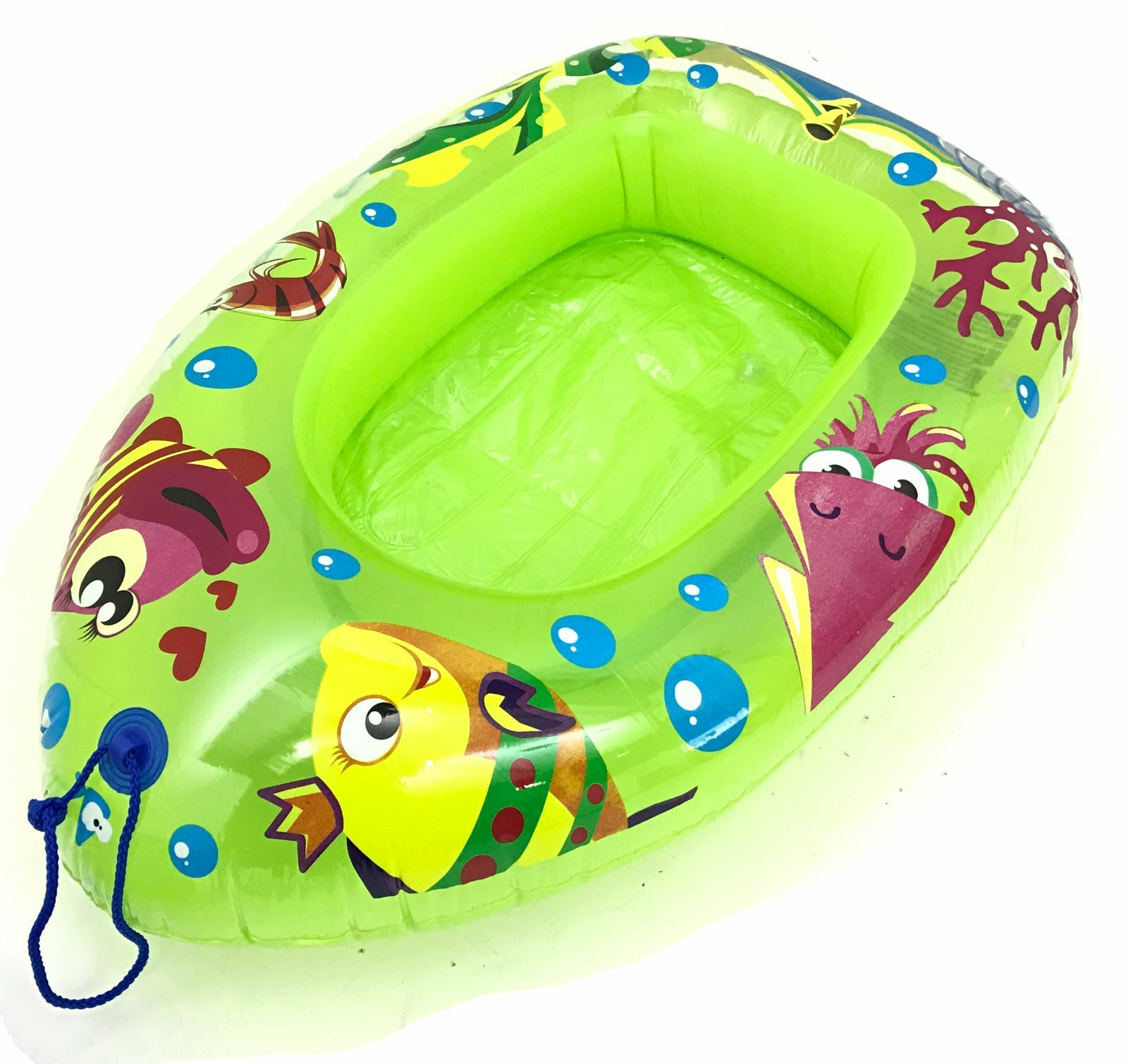 Childs Rubber Boat Dinghy Inflatable Raft Childrens Swimming Pool Toy Beach Kids