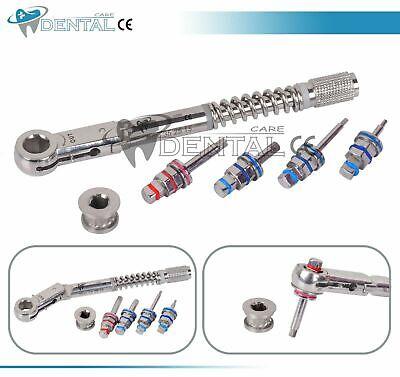 Dental Implant Torque Wrench Ratchet 10-40 Ncm 6.35mm Hex 4.0mm4 Pcs Hex Driver
