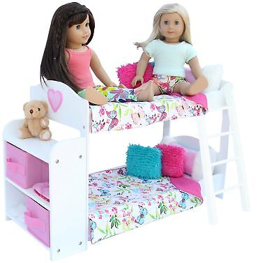 20 Pc. Doll Bedroom Set for 18 Inch American Girl Doll. Includes: Bunk Bed,