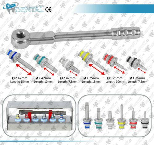 Dental Implant Drivers Kit Universal Ratchet Wrench Hex Drivers 6 Pcs CE