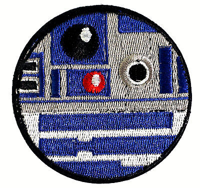Star Wars - R2D2 - Logo Uniform Patch Kostüm Aufnäher - zum Aufbügeln - neu ()