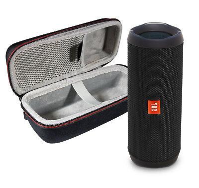 JBL FLIP 4 Black Kit Bluetooth Speaker & Portable Hardshell Travel Case