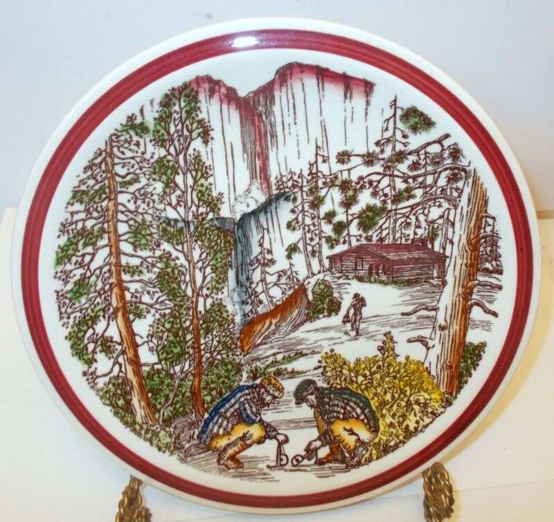 VERNON KILNS Calif Plate Bits of the Old Northwest FUR TRAPPING Cabin Hunting