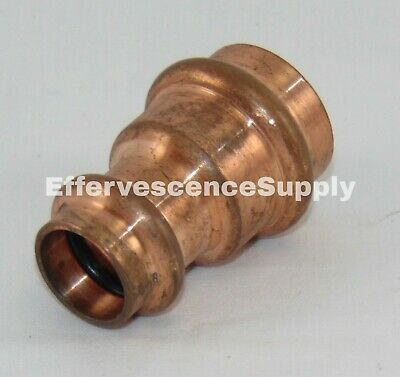 Nibco Pc600-r Reducing Coupling 34 X 12 Press X Press Wrot Copper - Propress