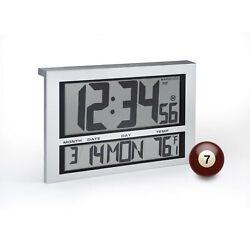 Marathon CL030025 Commercial Grade Jumbo Atomic Silver Wall Clock