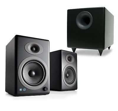 Audioengine A5+ Wireless Black Speakers with S8 Subwoofer