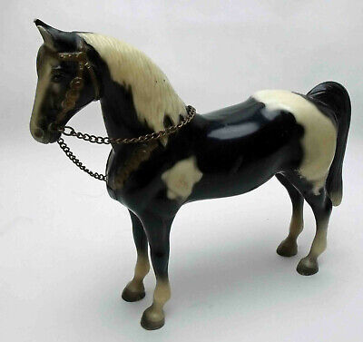 Vintage Breyer? Horse Black+ White Pinto Western Horse