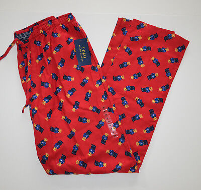 NWT Men's Polo Ralph Lauren Lounge Pajama Pant, Red, M, Medium