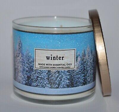 BATH BODY WORKS WINTER SCENTED CANDLE 3 WICK 14.5OZ LARGE BLUE FIR CITRUS CLOVE (Citrus Clove Candle)