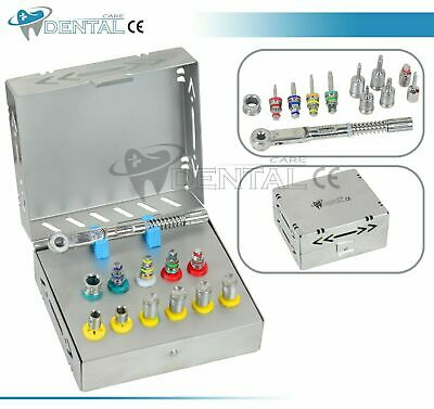 Dental Implant Surgical Torque Wrench Ratchet Full Set Drivers Latch Adopter