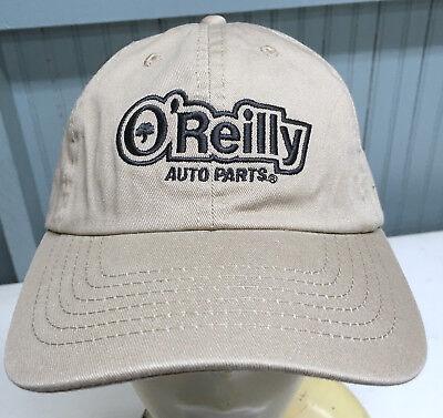 O Reilly Auto Parts Tan Adjustable Baseball Cap Hat