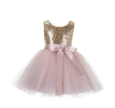 2t Flower Girl Dress (Sequin Mesh Flower girl dress Pageant Birthday Girl Special Occasions Sizes)