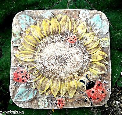 plastic square sunflower stepping stone concrete plaster mold