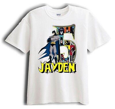 Batman Personalized - Birthday T-Shirt Party Favor  Birthday Party Favor T-shirt