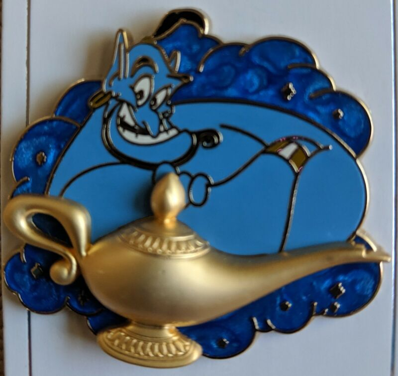 Disney Genie From Aladdin with Gold Lamp Pin