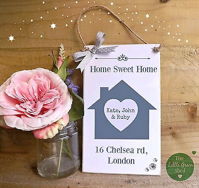 (House plaque, Family Sign, New Home, Housewarming Gift, Personalised keepsake)