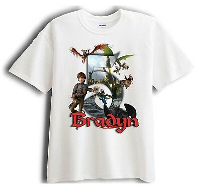 How to Train Your Dragon Personalized - Birthday T-Shirt Party Favor  (Train Birthday)