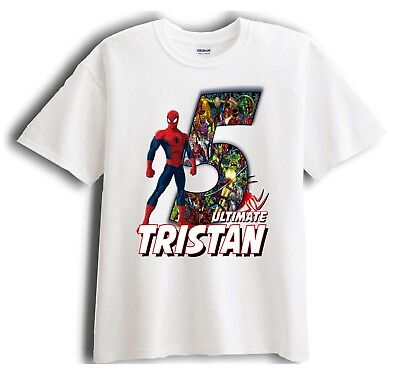 Spiderman Personalized - Birthday T-Shirt Party Favor  Birthday Party Favor T-shirt