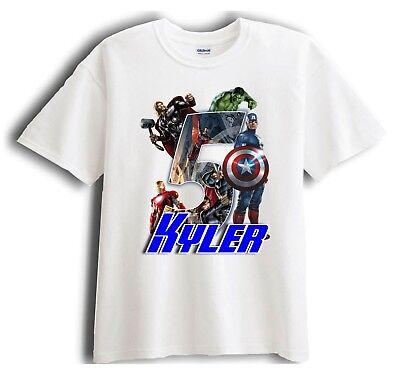 Avengers Captain America Personalized - Birthday T-Shirt Party Favor ](Captain America Birthday)