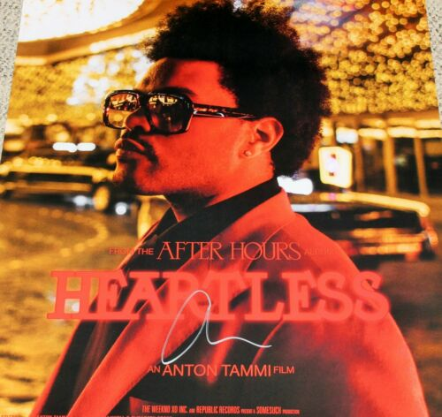 THE WEEKND SIGNED AFTER HOURS HEARTLESS 24x30 FILM POSTER COA ALBUM ABEL TESFAYE