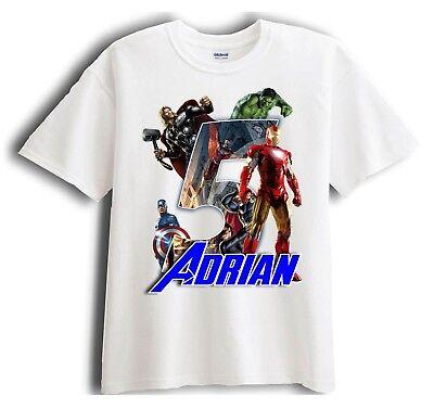 Avengers Iron Man Personalized - Birthday T-Shirt Party Favor ](Birthday Iron Man)